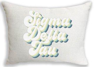 Sigma Delta Tau Retro Throw Pillow