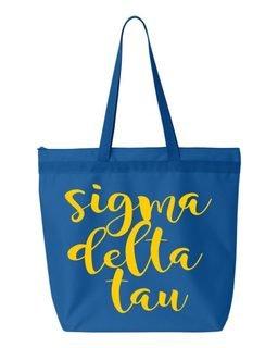 Sigma Delta Tau Script Tote bag