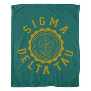 Sigma Delta Tau Seal Fleece Blanket