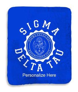 Sigma Delta Tau Seal Sherpa Lap Blanket