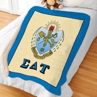Sigma Delta Tau Sherpa Lap Blanket