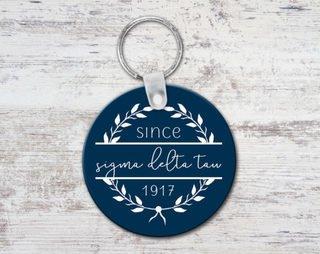 Sigma Delta Tau Since Established Keyring