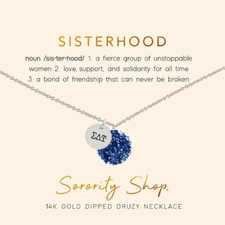 Sigma Delta Tau Sisterhood Druzy Necklace