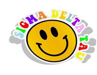 Sigma Delta Tau Smiley Face Decal Sticker