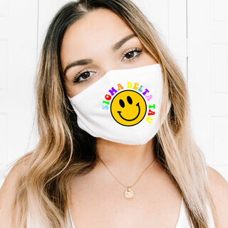 Sigma Delta Tau Smiley Face Face Mask