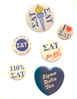 Sigma Delta Tau Sorority Buttons 6 Pack