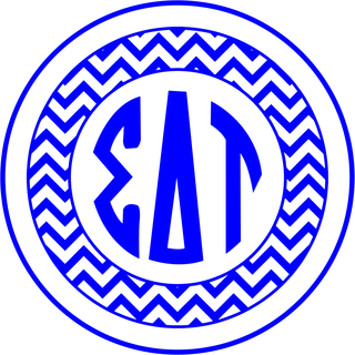 Sigma Delta Tau Sorority Monogram Bumper Sticker