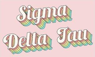 Sigma Delta Tau Sorority Retro Flag