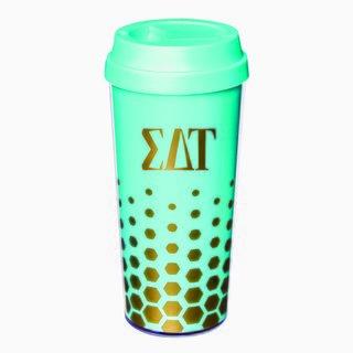 Sigma Delta Tau Sparkle Coffee Tumblers
