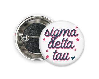Sigma Delta Tau Star Button