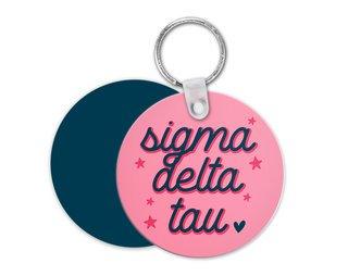 Sigma Delta Tau Star Key Chain