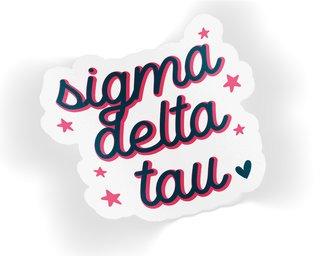 Sigma Delta Tau Star Sticker