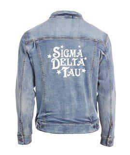 Sigma Delta Tau Star Struck Denim Jacket