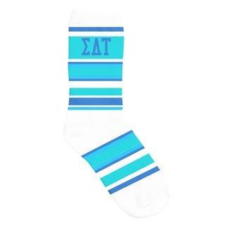 Sigma Delta Tau Striped Crew Socks