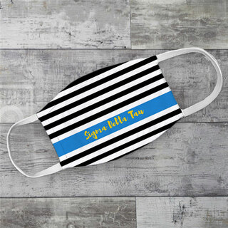 Sigma Delta Tau Stripes Face Mask