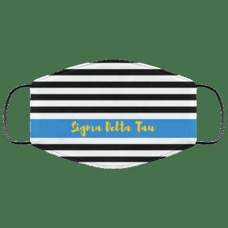 Sigma Delta Tau Stripes Face Mask
