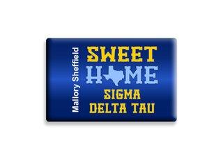 Sigma Delta Tau Sweet Home Ceramic Magnet