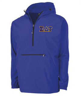 Sigma Delta Tau Tackle Twill Lettered Pack N Go Pullover