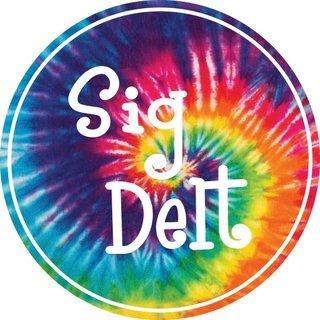 Sigma Delta Tau Tie-Dye Circle Sticker