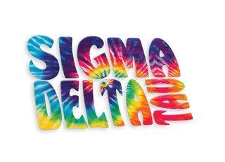Sigma Delta Tau Tie-Dye Stack Sticker