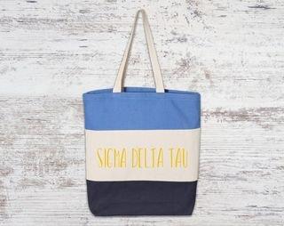 Sigma Delta Tau Tri Color Tote Bag