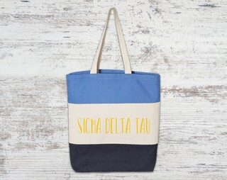 Sigma Delta Tau Tri Color Tote Bag