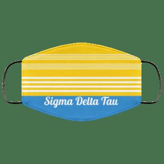 Sigma Delta Tau Two Tone Stripes Face Mask