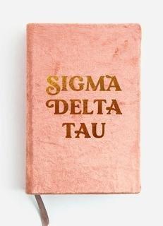 Sigma Delta Tau Velvet Notebook