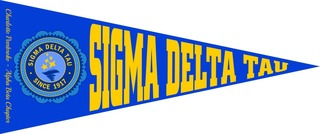 Sigma Delta Tau Wall Pennants