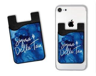 Sigma Delta Tau Watercolor Caddy Phone Wallet
