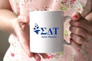 Sigma Delta Tau White Mascot Coffee Mug