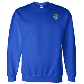 DISCOUNT-Sigma Delta Tau World Famous Crest - Shield Crewneck Sweatshirt