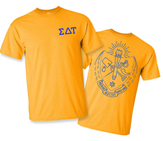 Sigma Delta Tau World Famous Greek Crest T-Shirts - $16.95!- MADE FAST!
