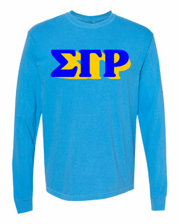 Sigma Gamma Rho 3 D Greek Long Sleeve T-Shirt - Comfort Colors