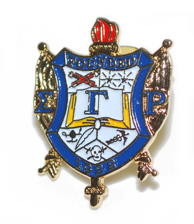 Sigma Gamma Rho 3D Color Shield Pins