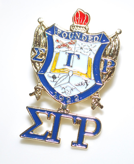 Sigma Gamma Rho 3D Color Shield w Letters Pins
