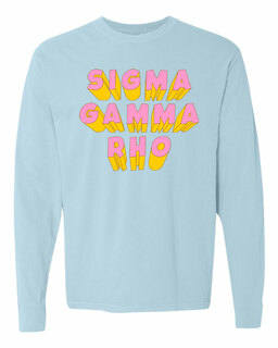 Sigma Gamma Rho 3Delightful Long Sleeve T-Shirt - Comfort Colors