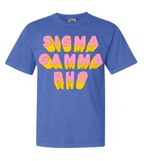 Sigma Gamma Rho 3Delightful Tee - Comfort Colors