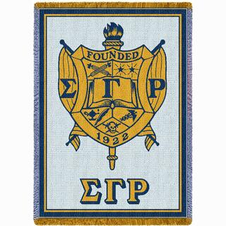 Sigma Gamma Rho Afghan Blanket Throw