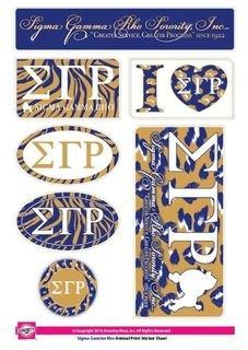Sigma Gamma Rho Animal Print Stickers
