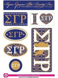 Sigma Gamma Rho Bohemian Stickers