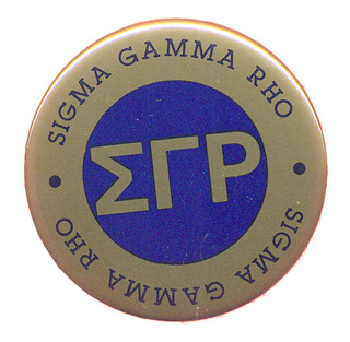Sigma Gamma Rho Button Circle