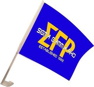 Sigma Gamma Rho Car Flag