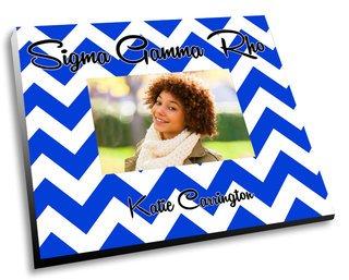 Sigma Gamma Rho Chevron Picture Frame