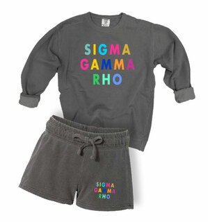 Sigma Gamma Rho Comfort Colors Crew and Short Set
