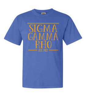 Sigma Gamma Rho Comfort Colors Custom Heavyweight T-Shirt