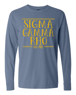 Sigma Gamma Rho Comfort Colors Custom Long Sleeve T-Shirt