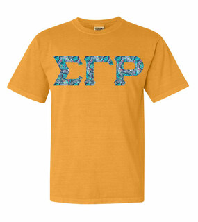Sigma Gamma Rho Comfort Colors Lettered Greek Short Sleeve T-Shirt