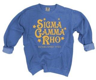 Sigma Gamma Rho Comfort Colors Old School Custom Crew