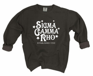 Sigma Gamma Rho Comfort Colors Old School Custom Crew